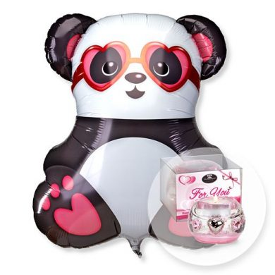 Riesenballon Panda in Love und Dreamlight For You | Blumen Online bestellen